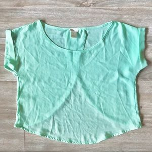 Wet Seal Open-Back Chiffon Top